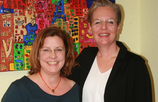 Schulpflegschaftsvorsitzende Almut Sulk und Eva Wolff
